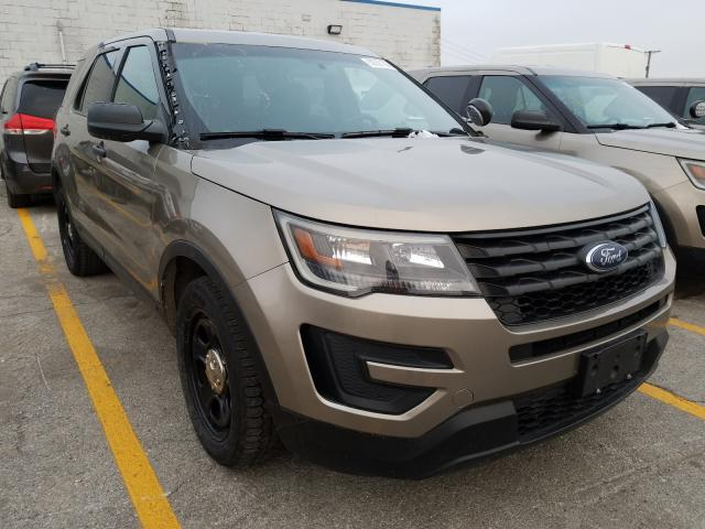 Salvage cars for sale from Copart Chicago Heights, IL: 2017 Ford Explorer P