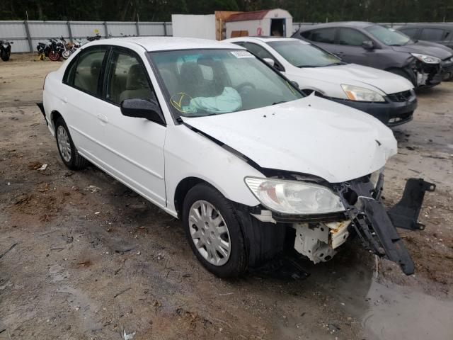 Salvage cars for sale from Copart Ocala, FL: 2005 Honda Civic LX