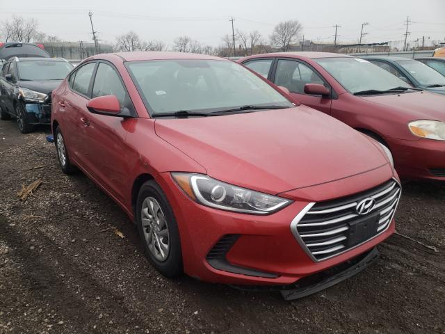 Salvage cars for sale from Copart Chicago Heights, IL: 2017 Hyundai Elantra SE