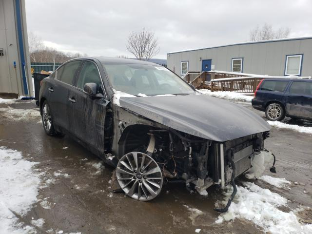 Salvage cars for sale from Copart Duryea, PA: 2019 Infiniti Q50 Luxe
