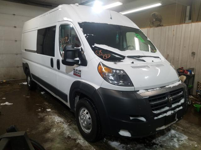 Salvage cars for sale from Copart Lyman, ME: 2018 Dodge RAM Promaster