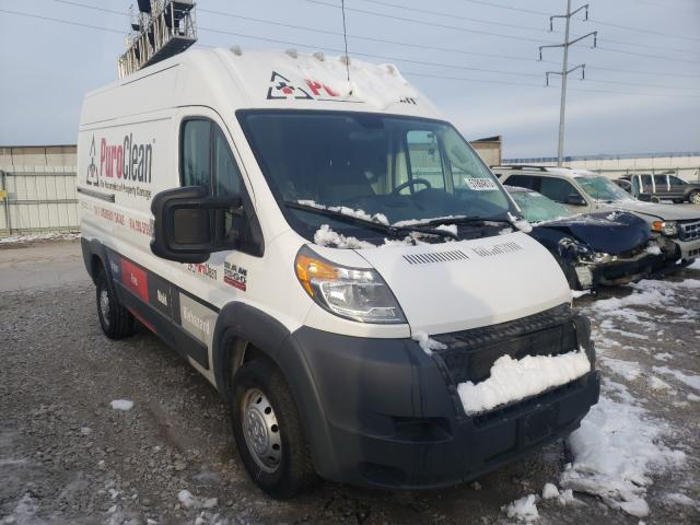 Salvage cars for sale from Copart Columbus, OH: 2018 Dodge RAM Promaster