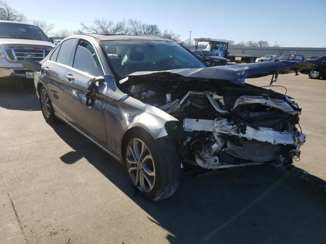 Salvage cars for sale from Copart Wilmer, TX: 2017 Mercedes-Benz C 300 4matic