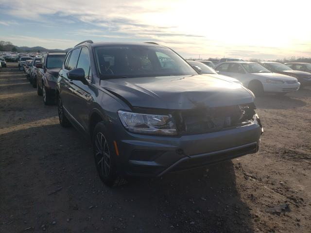Salvage cars for sale from Copart Madisonville, TN: 2020 Volkswagen Tiguan SE