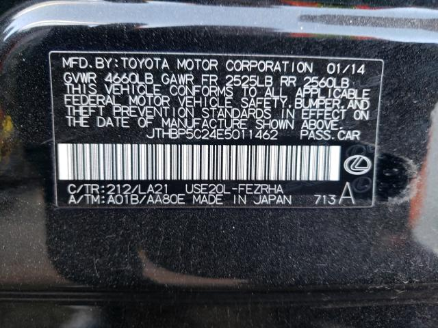 JTHBP5C24E5011462 2014 Lexus Is F 5.0L