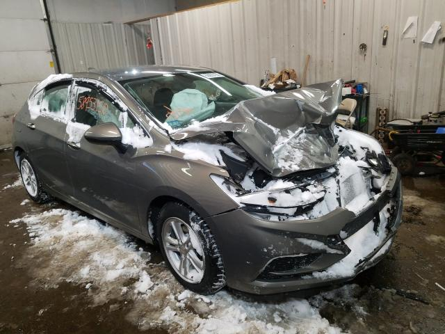 Salvage cars for sale from Copart Lyman, ME: 2017 Chevrolet Cruze LT