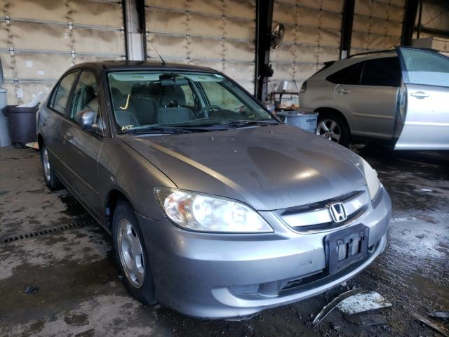 Salvage cars for sale from Copart Graham, WA: 2004 Honda Civic Hybrid