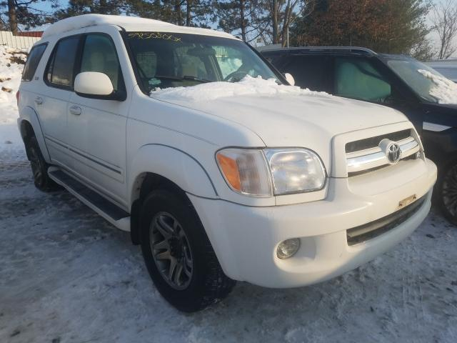 Salvage cars for sale from Copart New Britain, CT: 2006 Toyota Sequoia SR