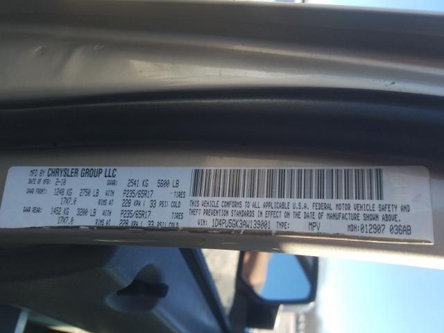 1D4PU5GK3AW139001 2010 Dodge Nitro Sxt 3.7L