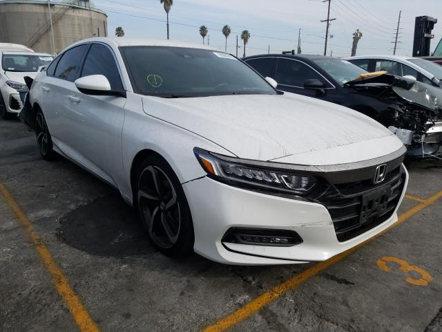 Salvage cars for sale from Copart Wilmington, CA: 2018 Honda Accord Sport
