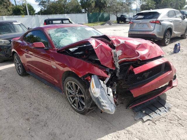 Salvage cars for sale at West Palm Beach, FL auction: 2015 Ford Mustang GT