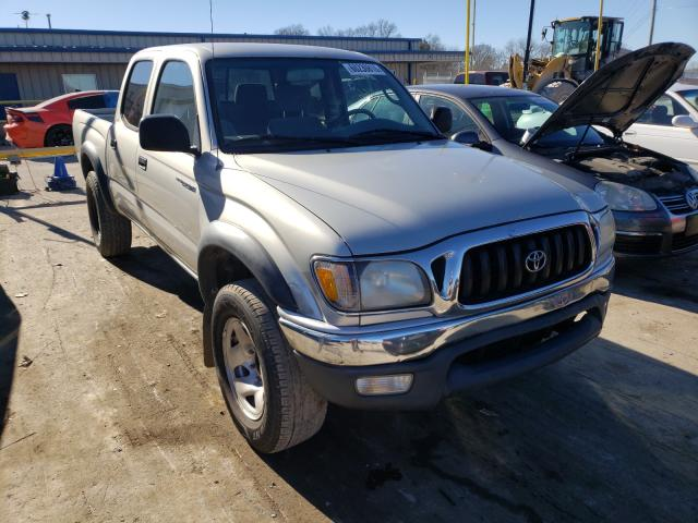 Salvage cars for sale from Copart Lebanon, TN: 2002 Toyota Tacoma DOU