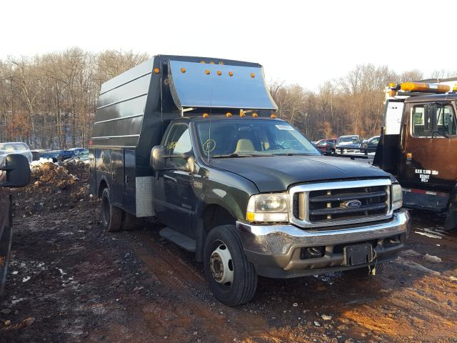 Salvage cars for sale from Copart York Haven, PA: 2002 Ford F450 Super