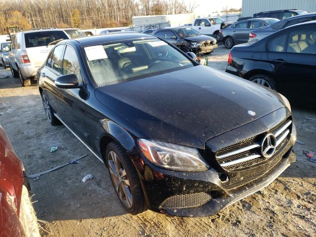 Salvage cars for sale from Copart Hampton, VA: 2015 Mercedes-Benz C 300 4matic