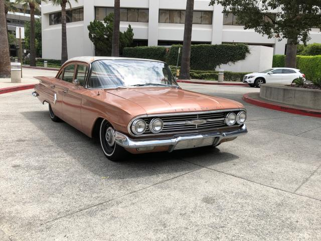 Salvage cars for sale from Copart Rancho Cucamonga, CA: 1960 Chevrolet Biscayne