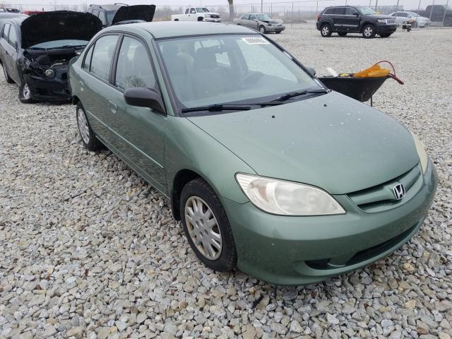 Salvage cars for sale from Copart Cicero, IN: 2004 Honda Civic LX