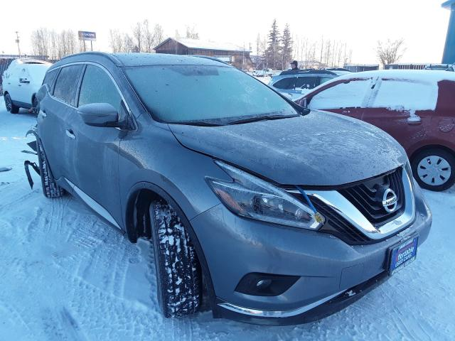 Salvage cars for sale from Copart Anchorage, AK: 2018 Nissan Murano S