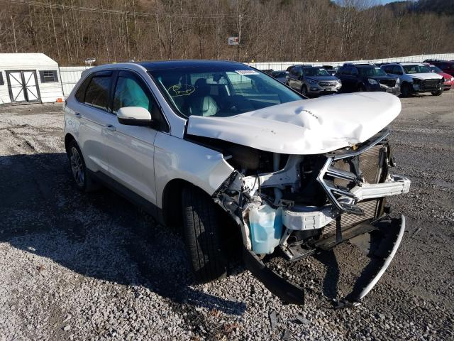 Salvage cars for sale from Copart Hurricane, WV: 2016 Ford Edge Titanium
