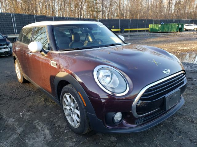 Salvage cars for sale at Waldorf, MD auction: 2016 Mini Cooper CLU