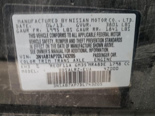 2013 NISSAN SENTRA S 3N1AB7AP7DL743205