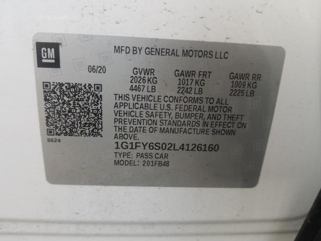 2020 Chevrolet BOLT | Vin: 1G1FY6S02L4126160