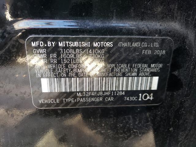 2018 Mitsubishi MIRAGE   Vin: ML32F4FJ8JHF11284