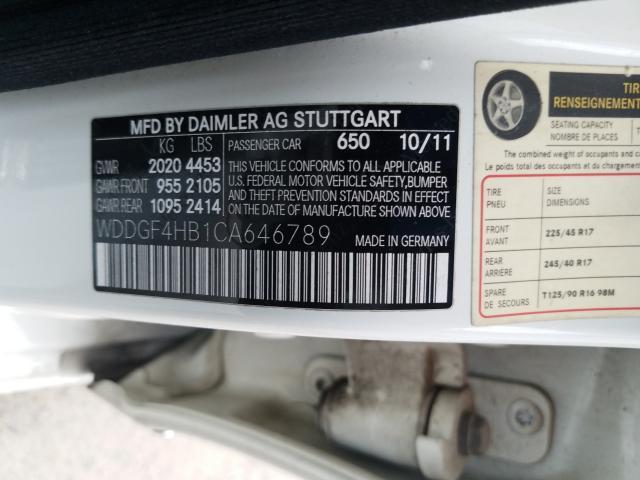 WDDGF4HB1CA646789 2012 Mercedes-Benz C 250 1.8L