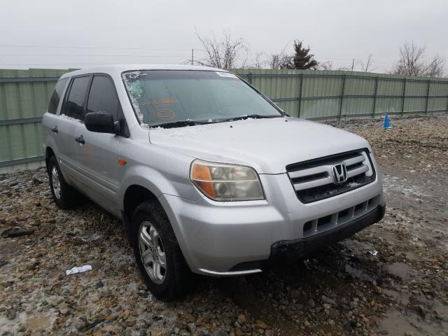 Honda Pilot LX salvage cars for sale: 2007 Honda Pilot LX