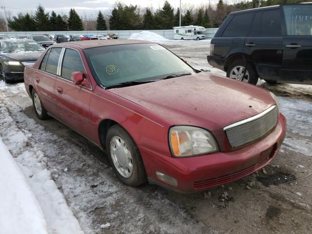 Salvage cars for sale from Copart Angola, NY: 2000 Cadillac DTS