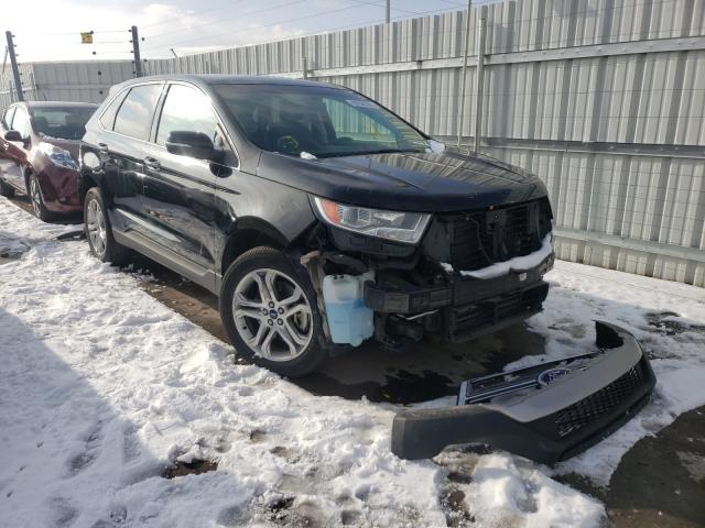 Ford salvage cars for sale: 2017 Ford Edge Titanium
