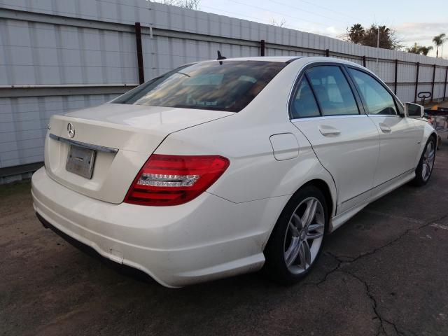 цена в сша 2012 Mercedes-Benz C 250 1.8L WDDGF4HB1CA646789