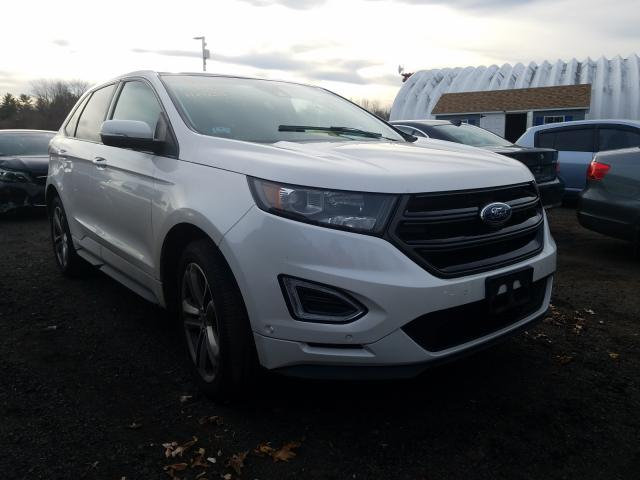 Salvage cars for sale from Copart East Granby, CT: 2015 Ford Edge Sport