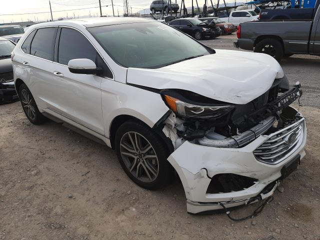 Salvage cars for sale from Copart Las Vegas, NV: 2019 Ford Edge Titanium