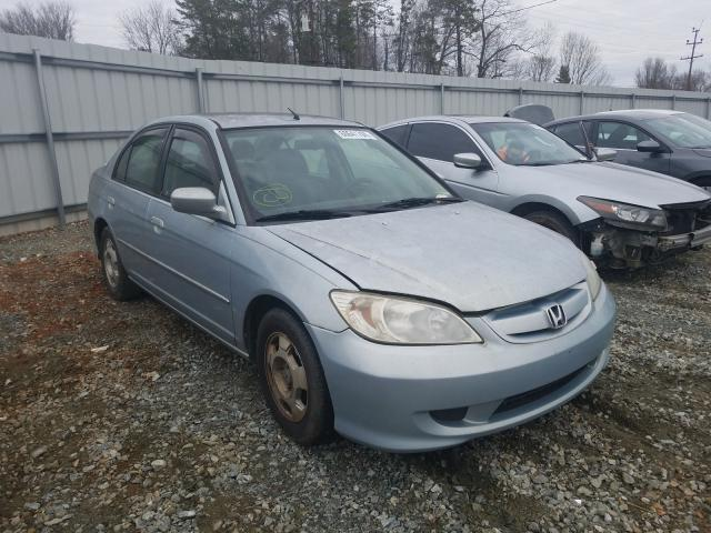 Salvage cars for sale from Copart Mebane, NC: 2005 Honda Civic