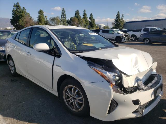 Salvage cars for sale from Copart Rancho Cucamonga, CA: 2018 Toyota Prius