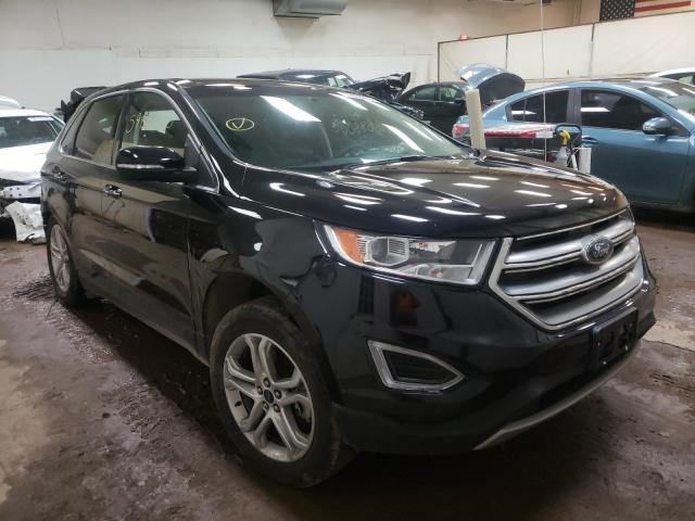 Salvage cars for sale at Davison, MI auction: 2018 Ford Edge Titanium