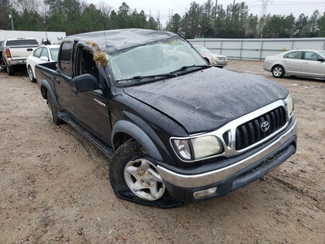 Salvage cars for sale from Copart Charles City, VA: 2004 Toyota Tacoma DOU