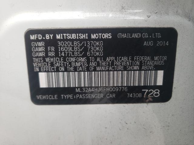ML32A4HJ6FH009776 2015 Mitsubishi Mirage Es 1.2L