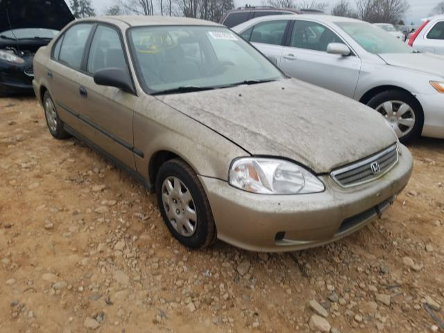 Honda Civic DX salvage cars for sale: 2000 Honda Civic DX