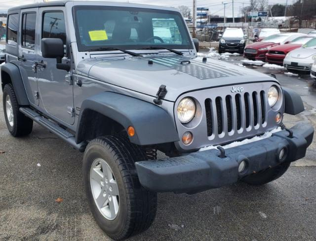 Salvage cars for sale from Copart Mendon, MA: 2014 Jeep Wrangler U