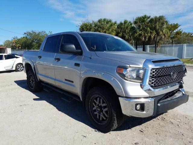 Salvage cars for sale at West Palm Beach, FL auction: 2018 Toyota Tundra CRE