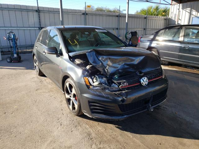 Salvage cars for sale from Copart Orlando, FL: 2017 Volkswagen GTI Sport