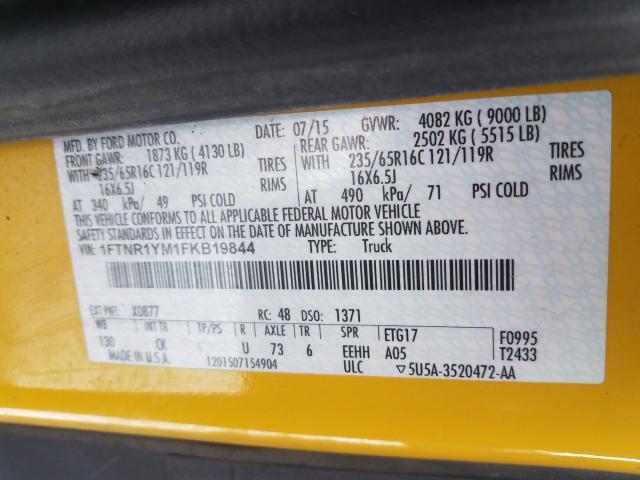 2015 Ford TRANSIT | Vin: 1FTNR1YM1FKB19844