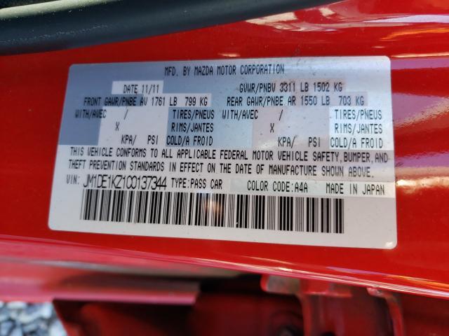 2012 MAZDA MAZDA2 JM1DE1KZ1C0137344