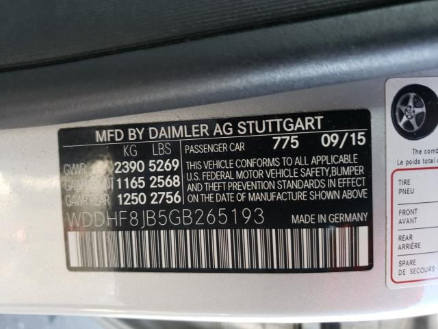 2016 Mercedes-Benz E | Vin: WDDHF8JB5GB265193