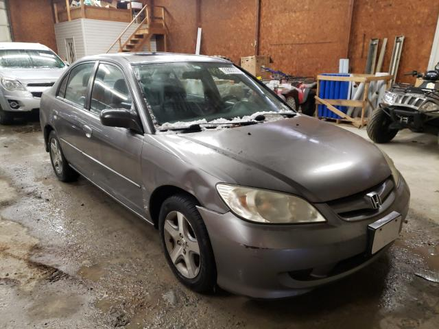Salvage cars for sale from Copart Ebensburg, PA: 2004 Honda Civic EX