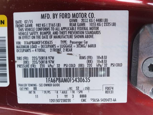2015 FORD MUSTANG - 10