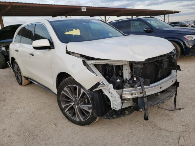 Salvage cars for sale from Copart Temple, TX: 2019 Acura MDX Techno