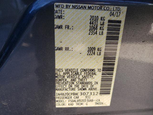 1N4BZ0CP8HC307312 2017 Nissan Leaf S U