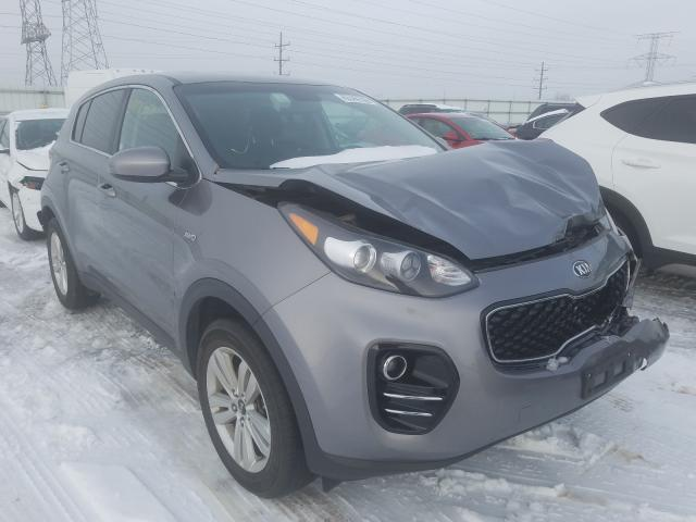 Salvage cars for sale from Copart Elgin, IL: 2018 KIA Sportage L